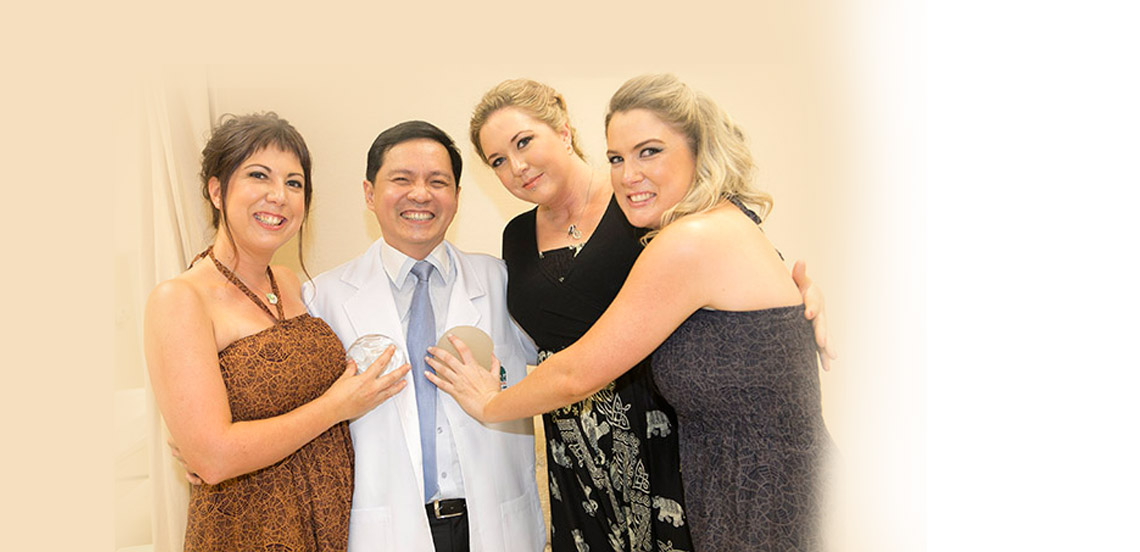 3 Sisters having breast augmentation in Thailand