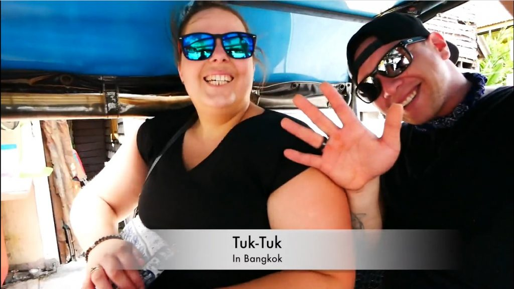 Chanelle's tuk tuk ride after gastric sleeve in Bangkok