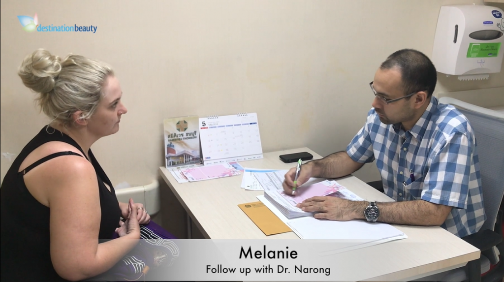 Melanie's follow up with Dr. Narong after gastric sleeve