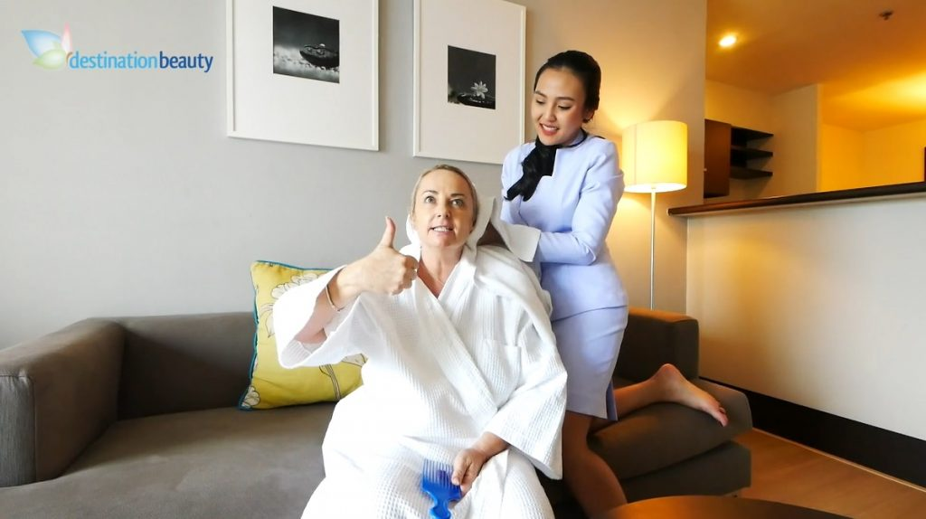Sally's nurse visit after tummy tuck and liposuction in Bangkok