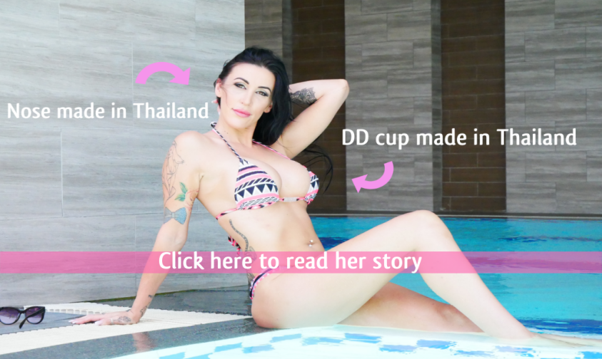 Alyssa's breast augmentation 450cc and nose job Bangkok